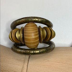 Bangle bracelet Bohemian Antique Bronze Flexible
